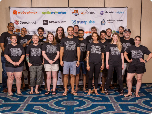 This is a picture of the OptinMonster team from our most recent company retreat in June 2019.