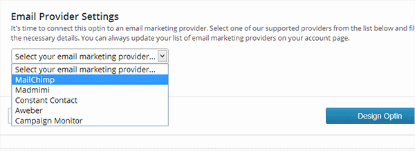 Connect to your email service provider