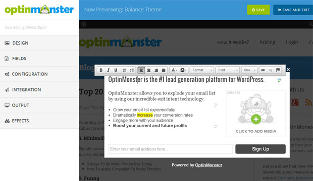 OptinMonster v2 Customizer