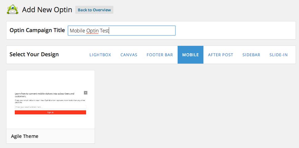 Select Mobile Optin