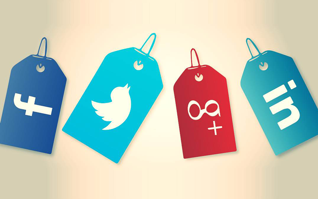 Social media icons: Integrate social media and email