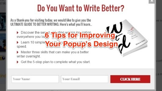 Featured Image: 6 Tips to Improving Popup Design
