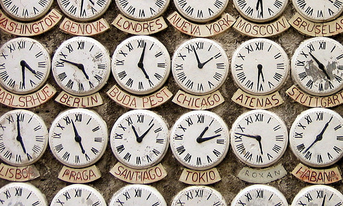 Timezone Clocks Image from Flickr by leoplus. https://www.flickr.com/photos/leoplus/