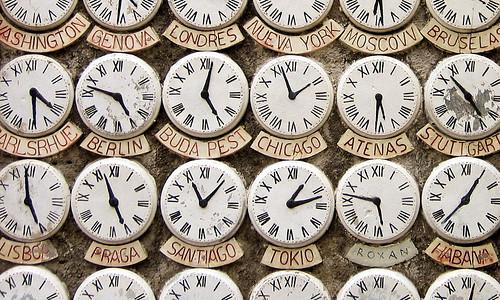 Timezone Clocks Image from Flickr by leoplus. https://www.flickr.com/photos/leoplus/