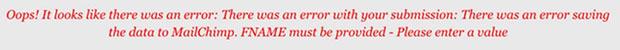 fname-MailChimp-error