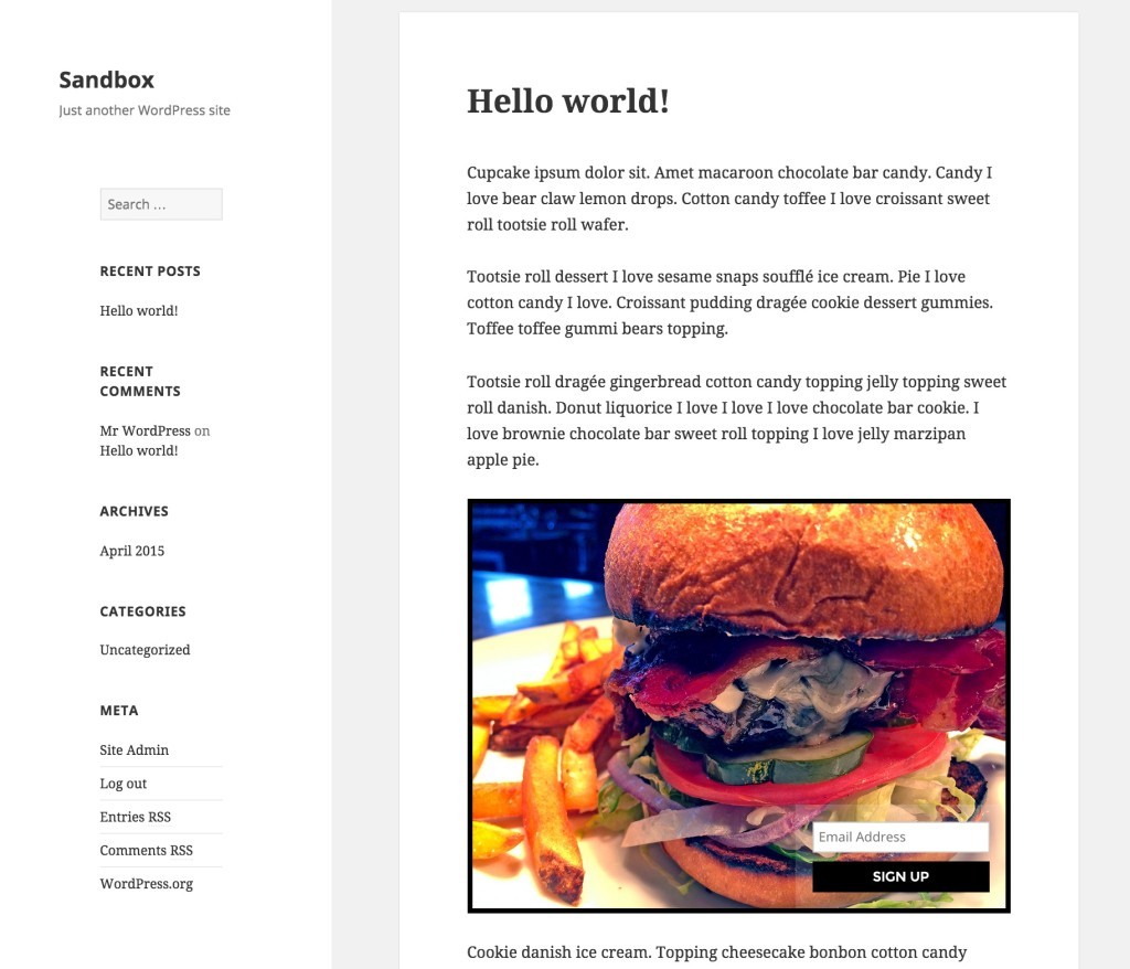 You can add your campaign manually to a page, post, text widget or theme template.