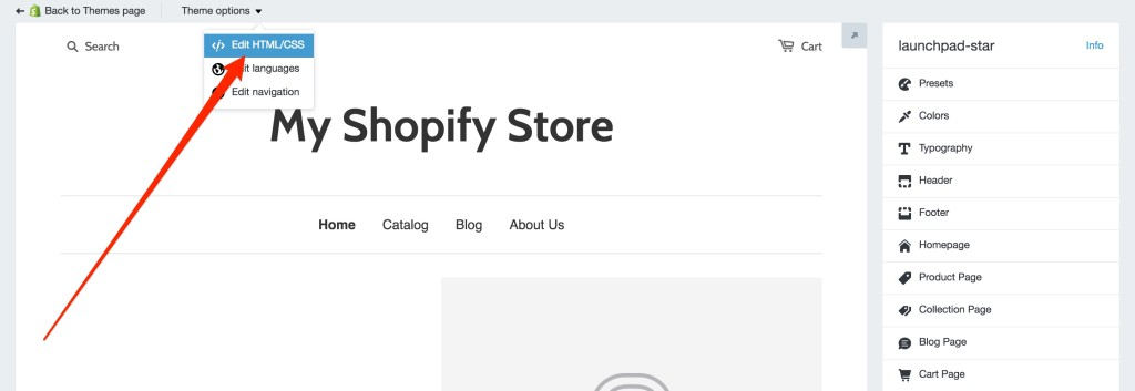 You'll need to edit the Shopify theme template to add your campaign's embed code.