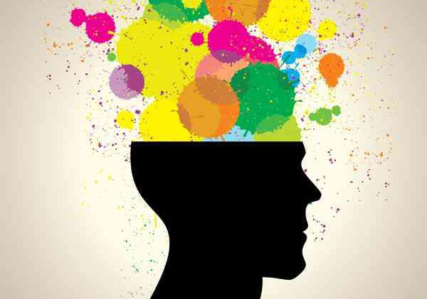 Cervello con colori