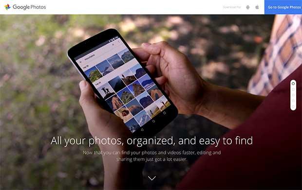 Google相册网站使用全屏视频背景