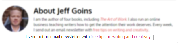 Add CTA to your author bio to increase opt-ins