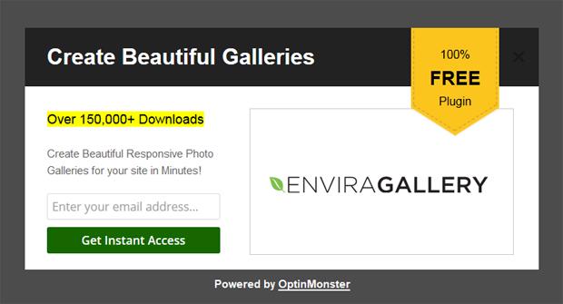 Envira Gallery Popup