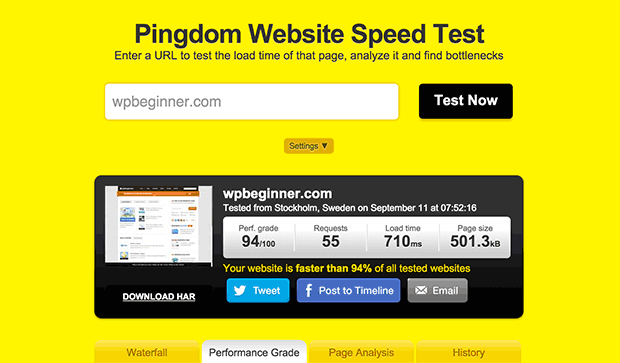 使用pingdom测试您的页面速度