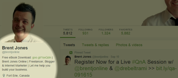 Your Twitter bio is one more place you can promote your email signup
