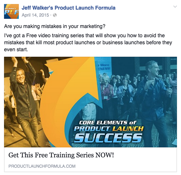 how to do facebook advertising - Jeff Walker Ad