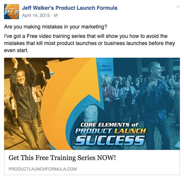 Jeff Walker Ad