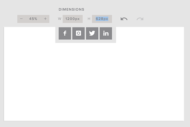 Set Facebook advertising Dimensions