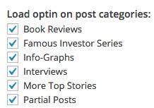Target optins by categories using OptinMonster