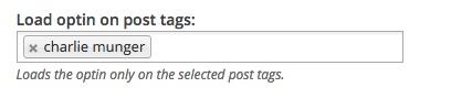 Target optins by tags using OptinMonster