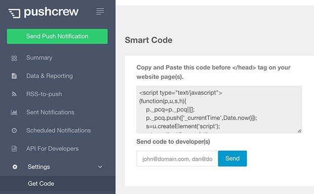 pushcrew-code