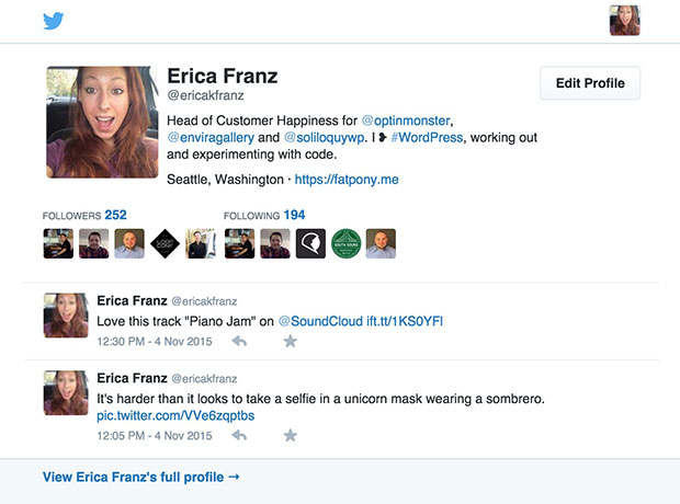 You can use the Twitter Summary of your profile to display as a background image for your Campaign.