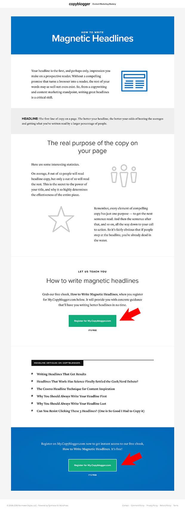 Copyblogger Resource Page