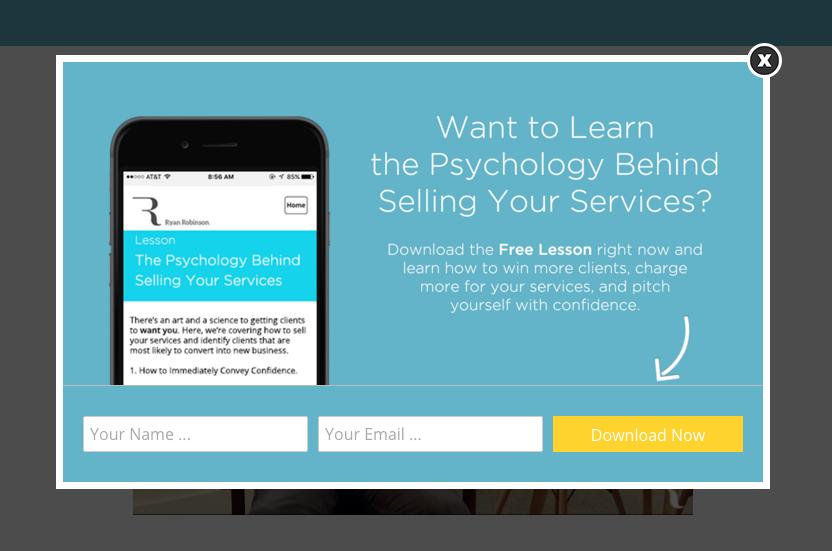 Ryan Robinson's Freelance Proposal Course Optin