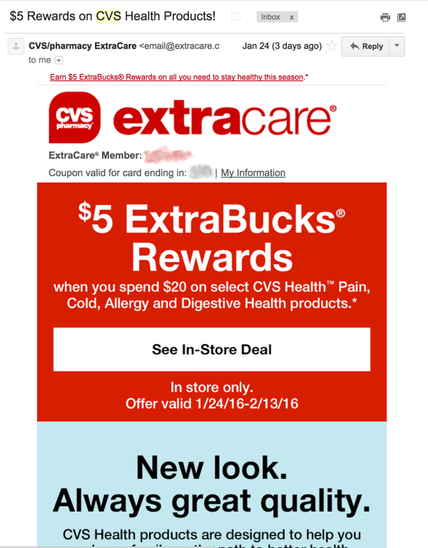 CVS Reselling by Offering Coupon in Previous Sales Category