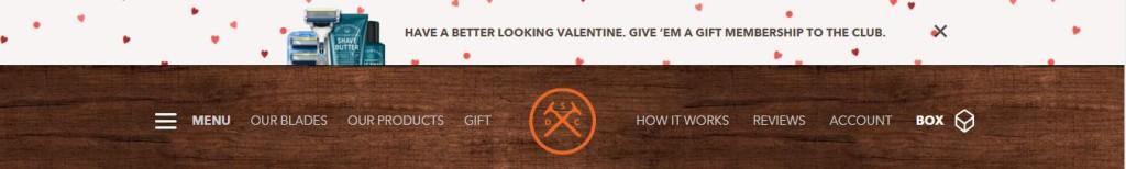 Dollar Shave Club Valentine's Promotion