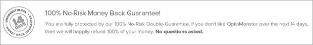 OptinMonster Money Back Guarantee