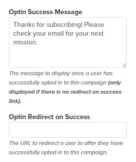 OptinMonster Redirects Upon Success