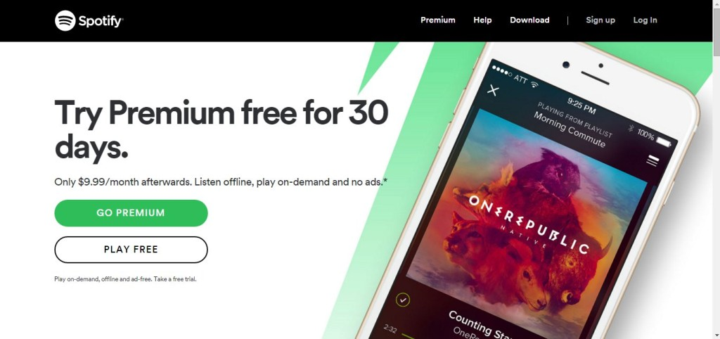 Spotify's Call To Action