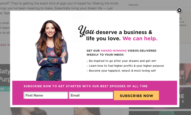 40 exit popup hacks to grow your subscribers \u0026 revenuedo you see how the color pink was used to place emphasis on certain words? \u201cwe can help\u201d and \u201caward winning\u201d both pop right out at you, just before your