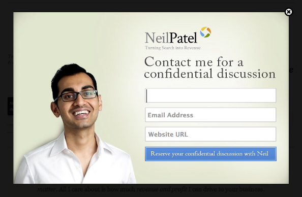 Neil Patel popup