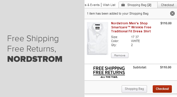Free Shipping Example Nordstrom