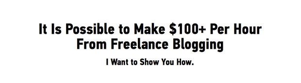 Paid to Blog Sales Page