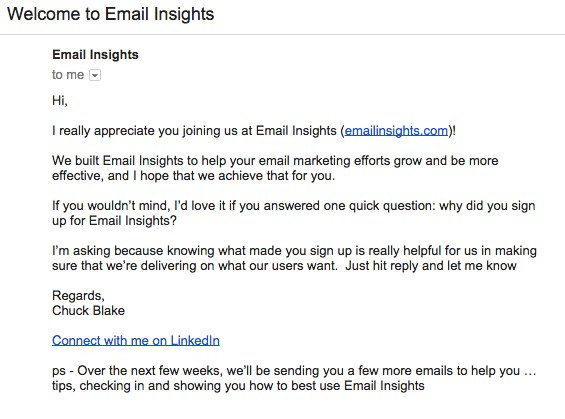 Email Insights Linkedin Email