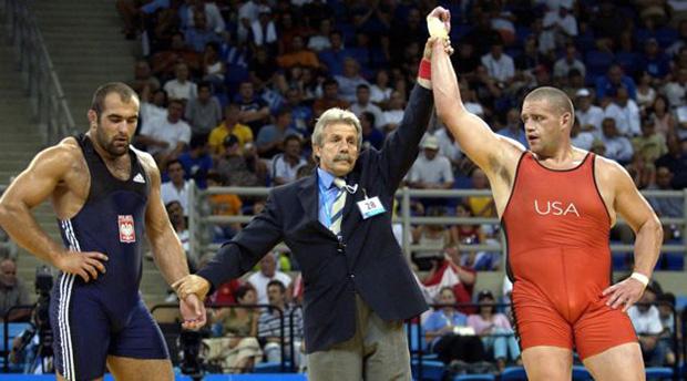 Olympic Wrestlers Blue vs Red