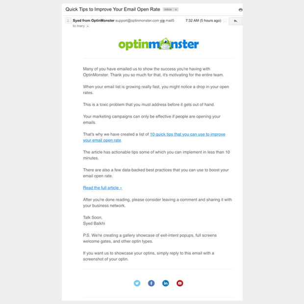OptinMonster Emails