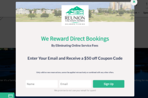 Reunion Vacation Homes Lightbox Popup