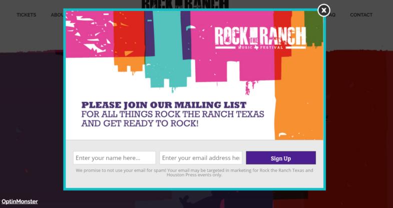 Rock the Ranch TX Popup