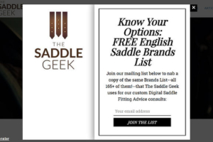 The Saddle Geek Exit Intent Popup