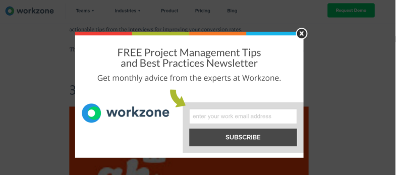 Workzone Popup