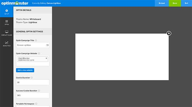 Your Canvas campaign will appear completely blank when first created.