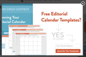 CoSchedule Email Template Popup