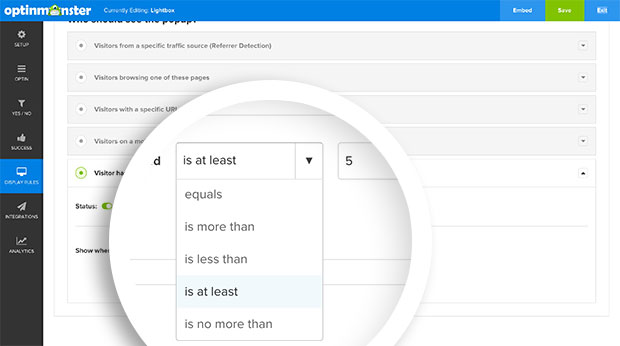 You can fully customize how you want your optin to appear based on the number of pages viewed.