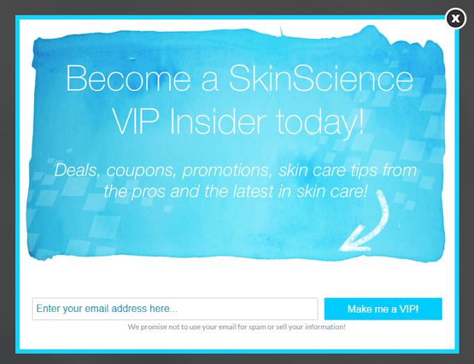 SkinScience Popup