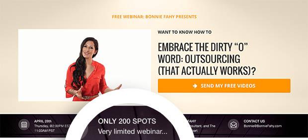 Bonnie Fahy Webinar Scarcity