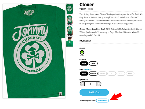Johnny Cupcakes Add to Wishlist