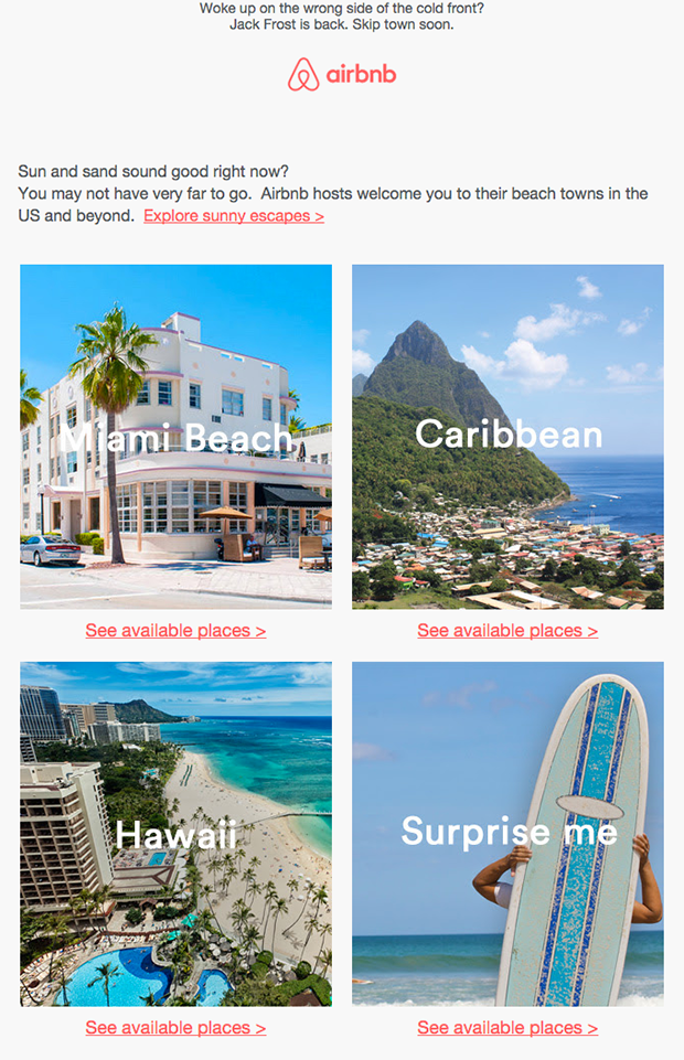 airbnb localized email