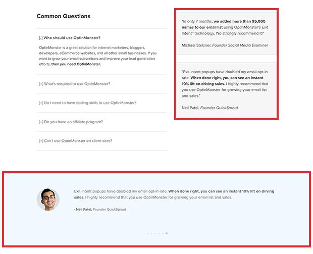 OptinMonster Pricing Social Proof